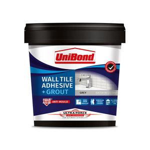 UniBond UltraForce Ready mixed Grey Tile Adhesive & grout  1.38kg