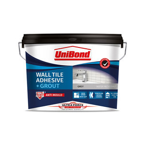 UniBond UltraForce Ready mixed Grey Tile Adhesive & grout  12.8kg
