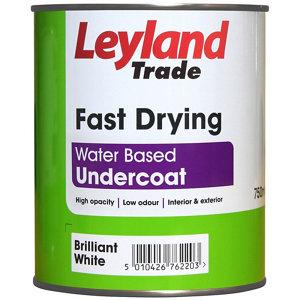 Image of Leyland Trade Brilliant white Metal & wood Undercoat 0.75L