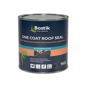 Image of Bostik 1kg Black Roofing waterproofer Tin