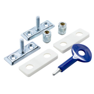 Image of Yale Chrome effect Metal Window Stay lock Pack of 2