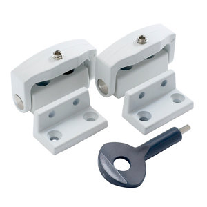 Image of Yale White Metal Window Toggle lock Pack of 2