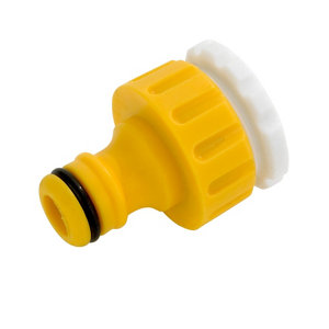Image of Hozelock Yellow Tap connector (W)100mm