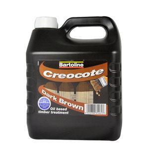 Image of Bartoline Dark brown Matt Creocote wood treatment 4L