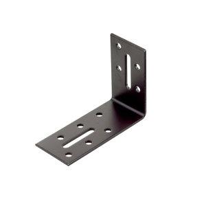 Image of Abru Brown Powder-coated Steel Angle bracket (L)60mm