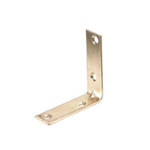 Image of Abru Brass effect Steel Light duty Angle bracket (L)50mm