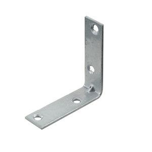 Image of Abru Brass effect Powder-coated Steel Light duty Angle bracket (L)50mm