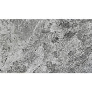 Image of Haver Anthracite Matt Travertine effect Ceramic Wall & floor tile Pack of 6 (L)600mm (W)300mm
