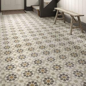 Image of Agran Multicolour Matt Patterned Ceramic Wall & floor Tile Pack of 11 (L)300mm (W)300mm