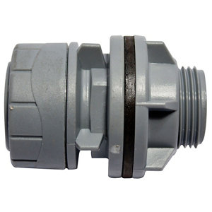 Image of PolyPlumb Push-fit Straight Tank connector (Dia)22mm