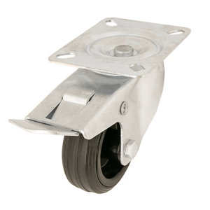 Image of Braked Heavy duty Swivel Castor WC50 (Dia)80mm (H)107mm (Max. Weight)70kg