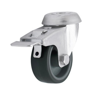 Image of Braked Light duty Swivel Castor WC60 (Dia)50mm (H)69mm (Max. Weight)30kg