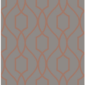 Image of Fine Décor Apex Charcoal Geometric Metallic effect Smooth Wallpaper