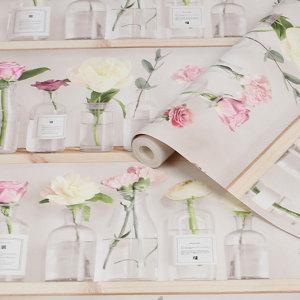 Image of Fresco Florista Pink Smooth Wallpaper