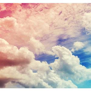 Image of Art for the Home Multicolour Ombre cloud Matt Mural