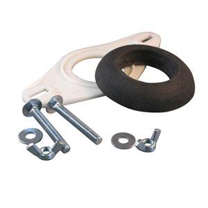 Image of Euroflo Black & white Close-coupling kit for Close coupled cistern