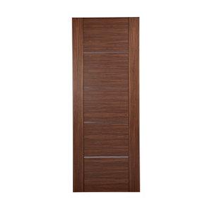 Image of 5 panel Flush Walnut veneer LH & RH Internal Door (H)1981mm (W)762mm