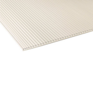 Image of Ariel Clear Polycarbonate Twinwall Roofing sheet (L)1.2m (W)610mm (T)4mm
