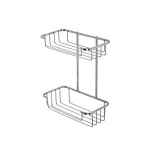 Image of Croydex Screw to Wall Storage Steel Chrome effect Storage basket