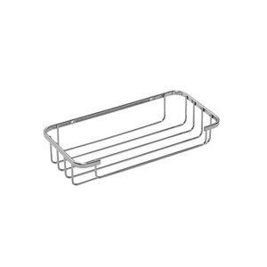 Image of Croydex Screw to Wall Storage Steel Chrome effect Cosmetic basket