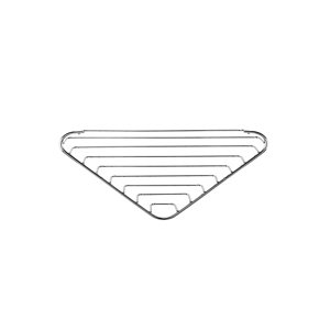 Image of Croydex Screw to Wall Storage Steel Chrome effect Corner basket