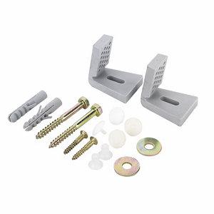 Image of Fischer Silver Nylon & steel Bidet & toilet fixing kit