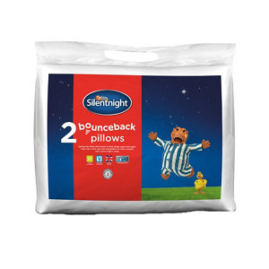 Image of Silentnight Bounceback Hypoallergenic Pillow Pack of 2