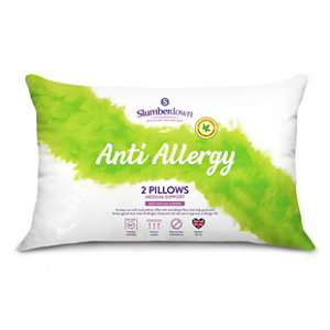 Image of Slumberdown Firm Anti allergy Pillow Pack of 2
