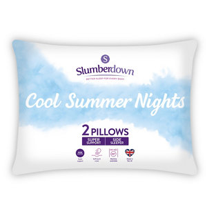 Image of Slumberdown Summer Cool Firm Pillow Pack of 2