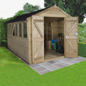 Image of Forest Garden 12x8 Apex Tongue & groove Wooden Shed
