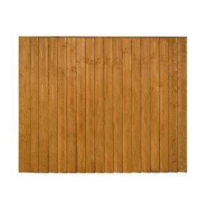 Traditional Feather edge Fence panel (W)1.83m (H)1.54m Pack of 5