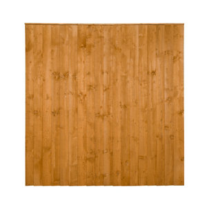 Traditional Feather edge Fence panel (W)1.83m (H)1.85m Pack of 4