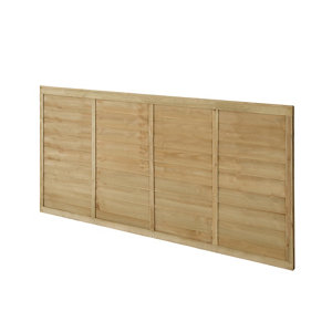 Premier Lap Pressure treated Fence panel (W)1.83m (H)0.91m Pack of 3
