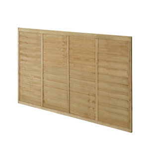 Premier Lap Pressure treated Fence panel (W)1.83m (H)1.22m Pack of 3