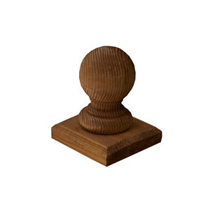 Image of Blooma Pine Post cap (W)100mm (D)100mm