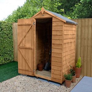 Image of Forest Garden 4x3 Apex Overlap Wooden Shed