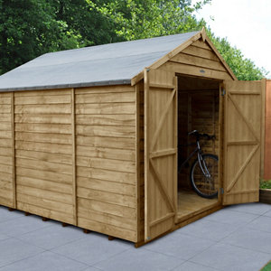 Image of Forest Garden 10x8 Apex Overlap Wooden Shed