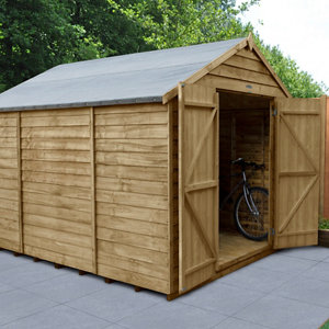 Image of Forest Garden 10x8 Apex Overlap Wooden Shed - Assembly service included