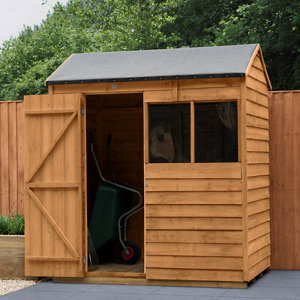 Forest Garden 6x4 Reverse apex Overlap Wooden Shed
