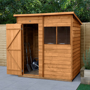 Image of Forest Garden 6x4 Pent Overlap Wooden Shed