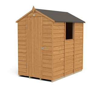 Image of Forest Garden 6x4 Apex Overlap Wooden Shed