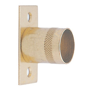 Image of Colorail Brass effect Steel Rail centre bracket (Dia)19mm Pack of 2