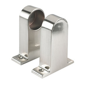 Image of Colorail Aluminium Rail end bracket (Dia)32mm Pack of 2
