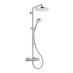 Image of Mira Atom ERD Single-spray pattern Chrome effect Thermostat temperature control Shower