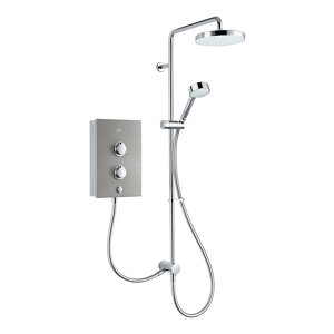 Image of Mira Decor Dual Silver effect Electric Shower 10.8kW