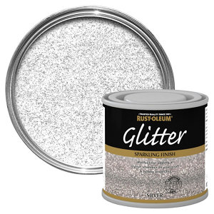 Image of Rust-Oleum Silver glitter effect Gloss Multi-surface Special effect paint 125ml