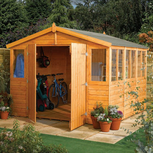 Rowlinson Sheds 9x15 Apex Tongue & groove Wooden Workshop