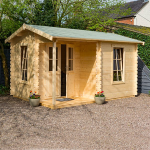 Image of Rowlinson Cabin 13x10 Apex Tongue & groove Wooden Cabin