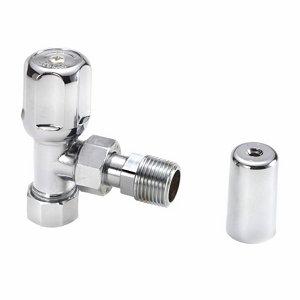 Regis Chrome effect Angled Radiator valve