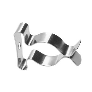 Image of Zinc-plated Steel Clip-on Spring clips (Dia)22mm-30mm Pack of 6